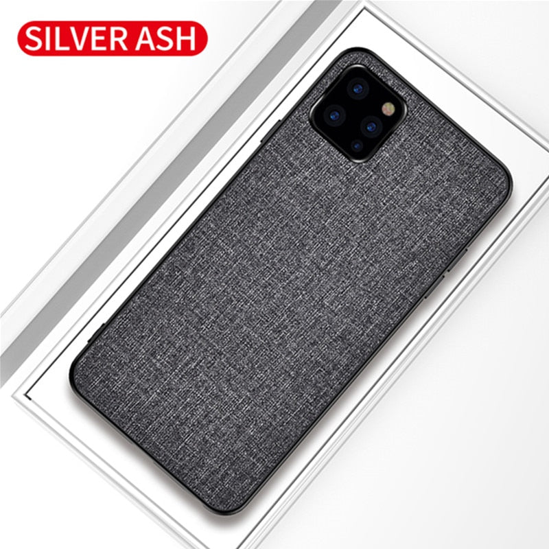 Luxury fabric Business case Coque For iPhone