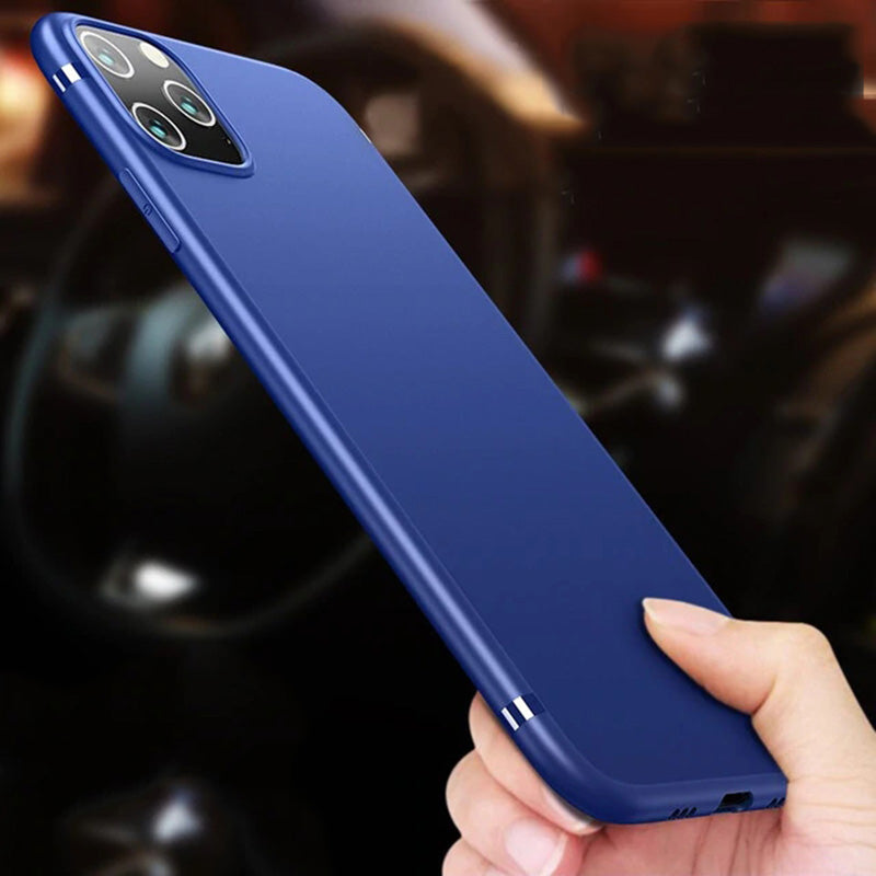 Slim matte Silicone Soft Case For iPhone