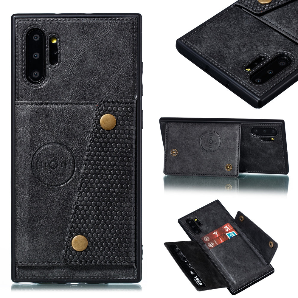 Magnetic Flip Leather Wallet Case For Samsung
