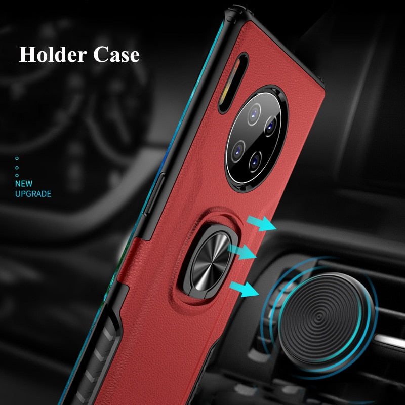 Finger Ring Car Magnetic Cover For Huawei