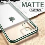 Matte Plating Clear Phone Case For iPhone