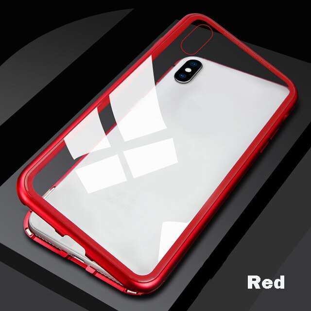 Metal Magnetic Adsorption Full Case For iPhone