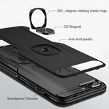 Metal Ring Car Stand Case For Samsung Galaxy