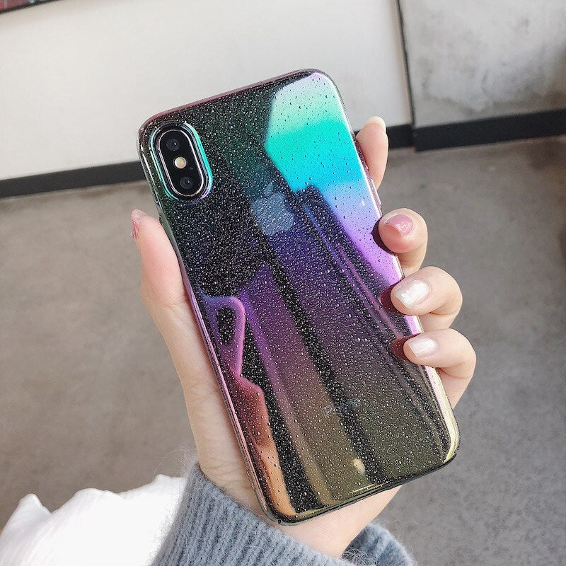 Luxury Rainbow Laser Colorful Case For iPhone