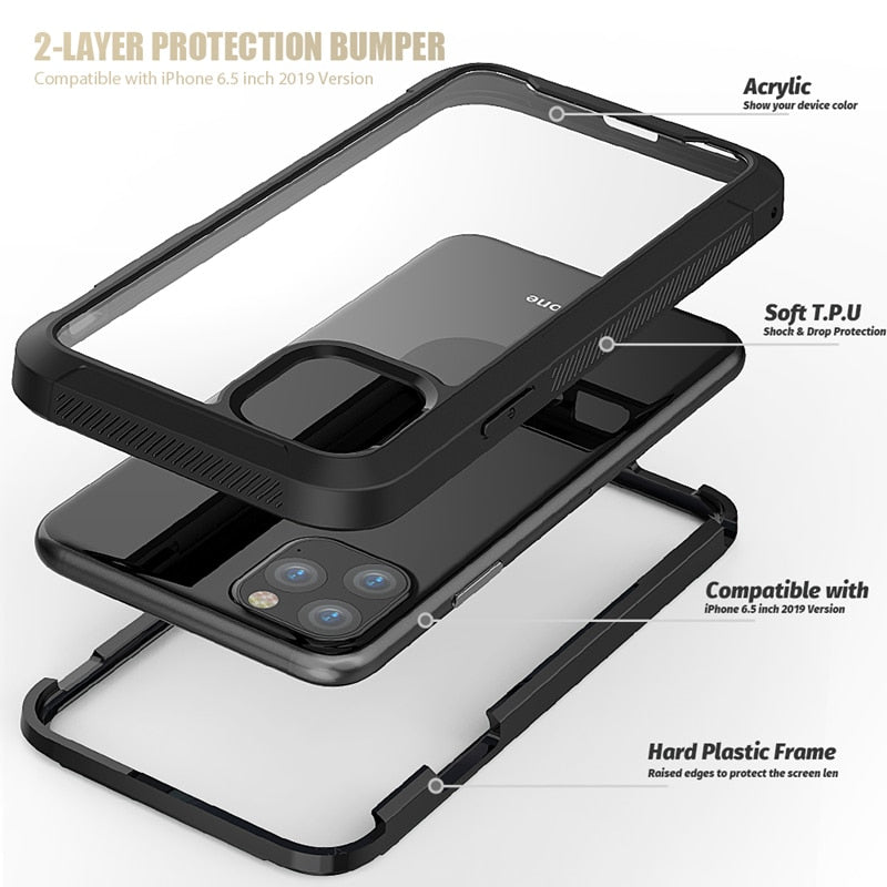 Transparent Shockproof New Phone Case For iPhone 11