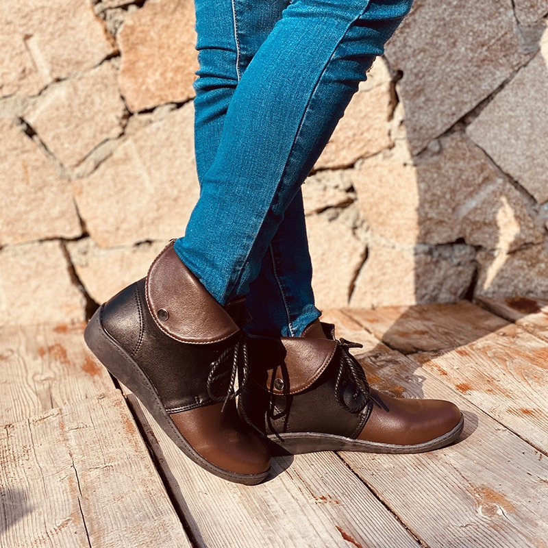 New Women's Retro Ankle Boots For Ladies Casual Walking Shoes