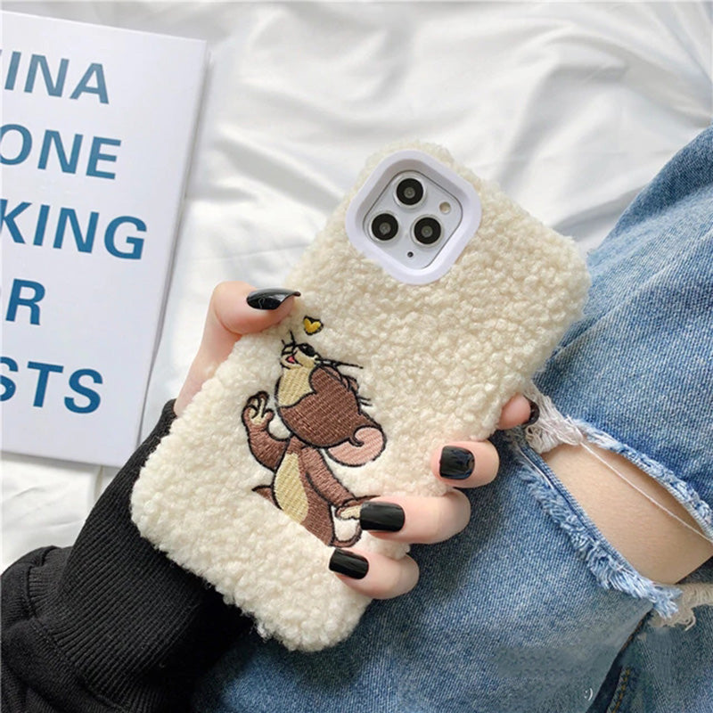 Cute Cartoon Pattern Plush Case for iPhone
