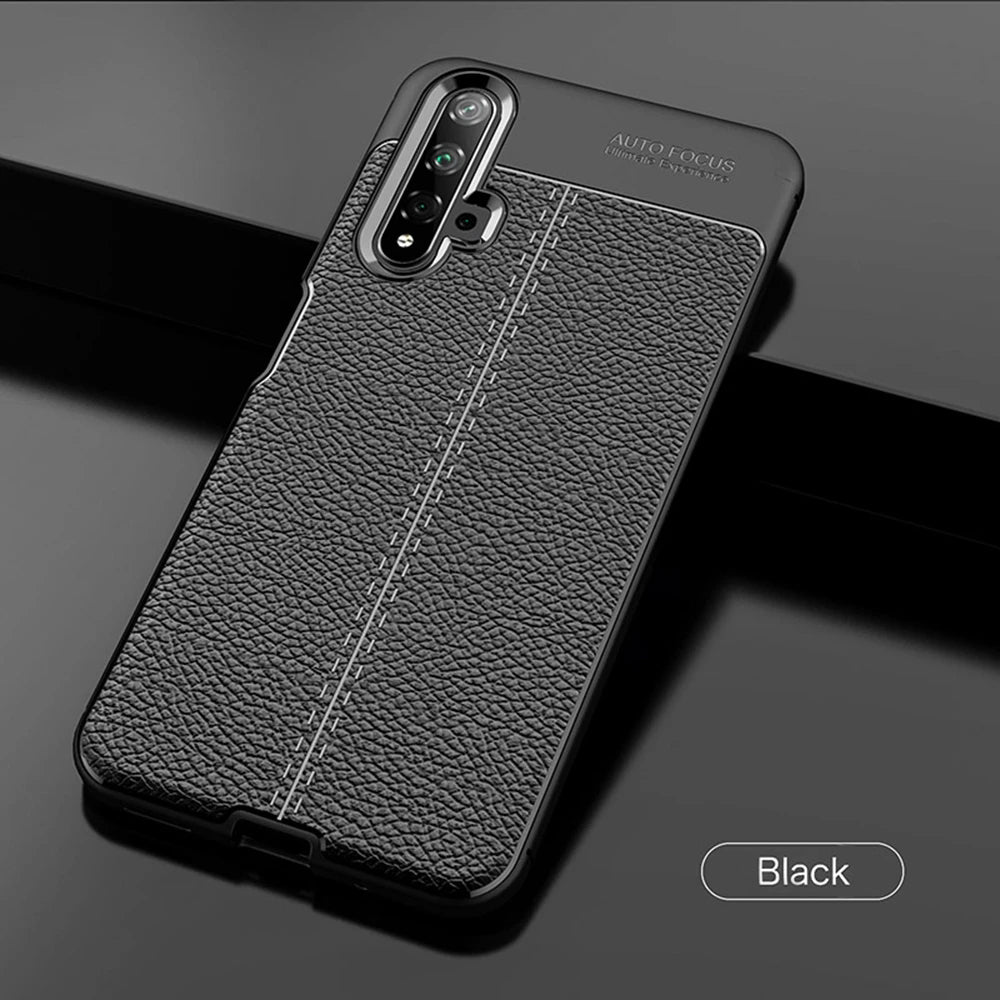 Luxury Bumper Silicon Leather Case For Huawei