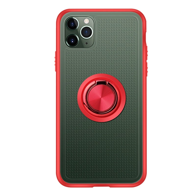 Shockproof Magnetic Ring Holder Case For iPhone