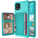 PU Leather Wallet Flip Case For iPhone & Samsung