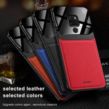 Luxury Business PC Grained Leather Case for Huawei