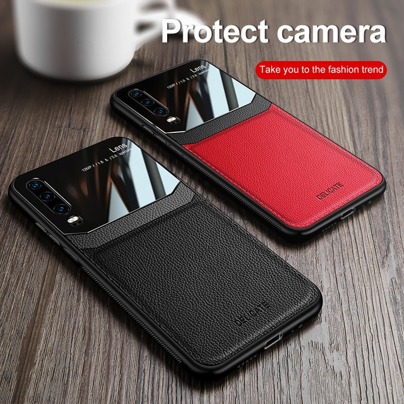 Leather Skin-pattern Phone Case for Huawei