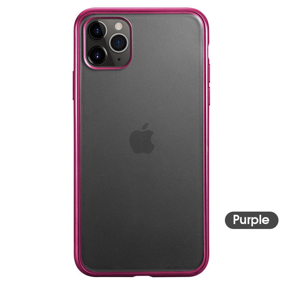 Ultra Thin Transparent Matte Soft Case For iPhone