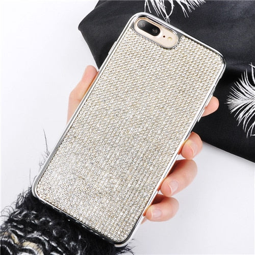 Rhinestone Bling Diamond Glitter Soft Case for iPhone