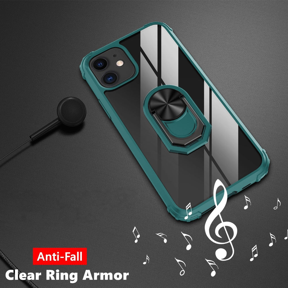 Magnetic Anti Fall Armor Ring Case For iPhone