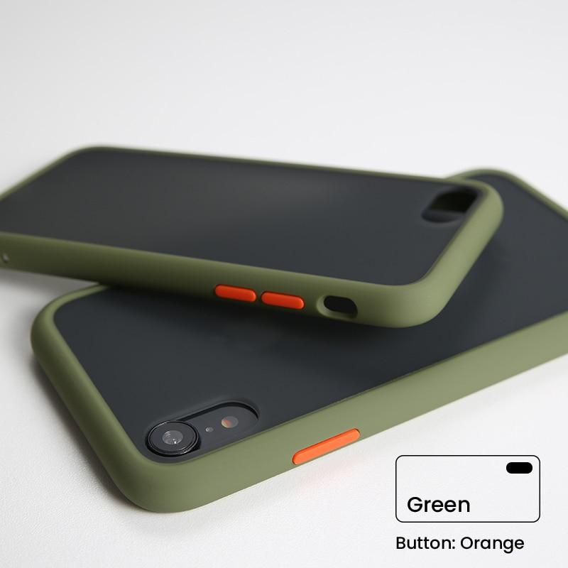Shockproof Bumper Matte Transparent Phone Case For iPhone