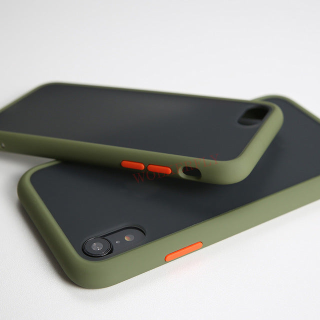 Transparent Matte Armor Shockproof Case for iPhone