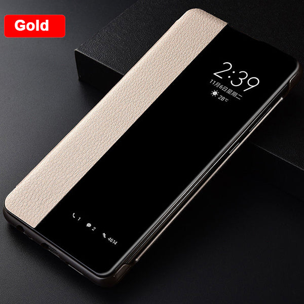 Smart View Leather Case For Huawei