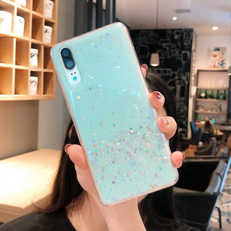 Soft Silicone Bling Glitter Sequins  Case for Huawei