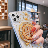 New Cute 3D Anti-fall Glue Spin Dollar Case for iPhone