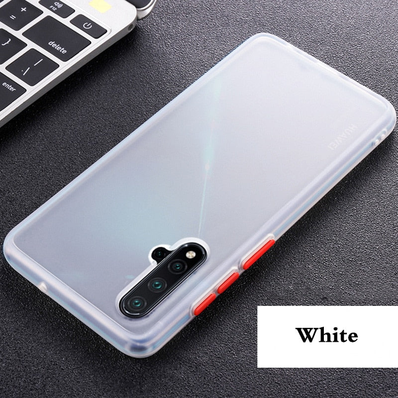 Silicone Frame Hard Clear Protecive Case For Huawei