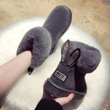 Winter Warm Leather Boots for Women