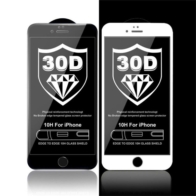 30D Curved Edge Tempered Glass Screen Protector For iPhone