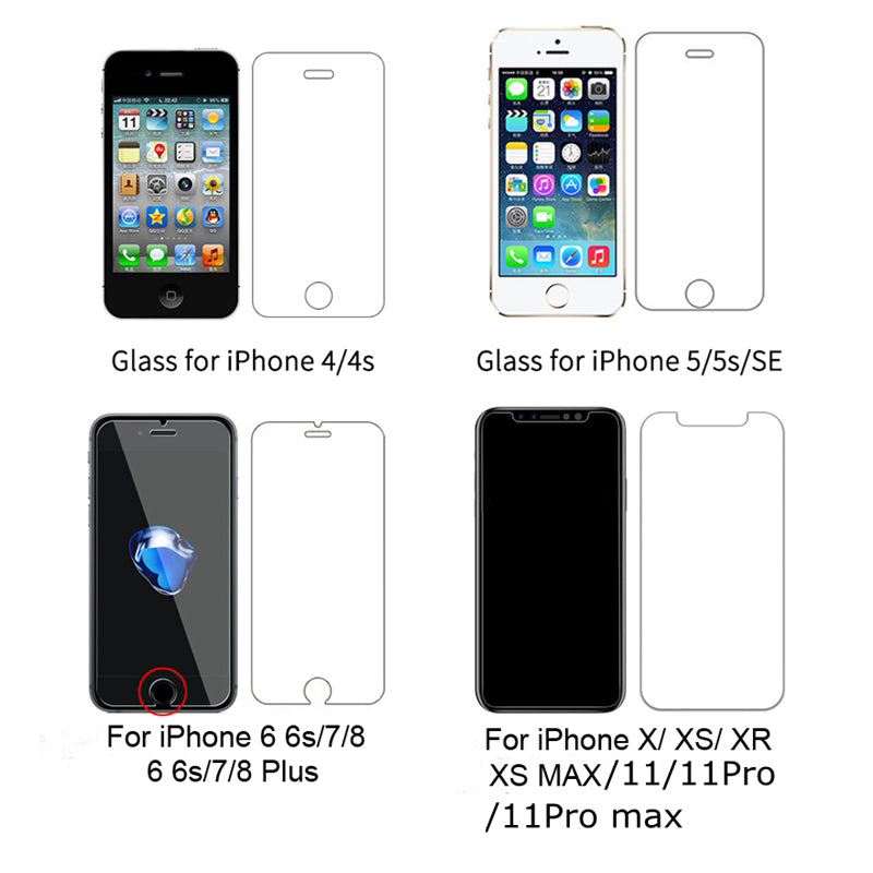 Front+Rear Glass Screen Protector Full Body Temper Glass For iPhone