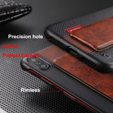 Rimless PU Leather Magnet Holder Case for iPhone