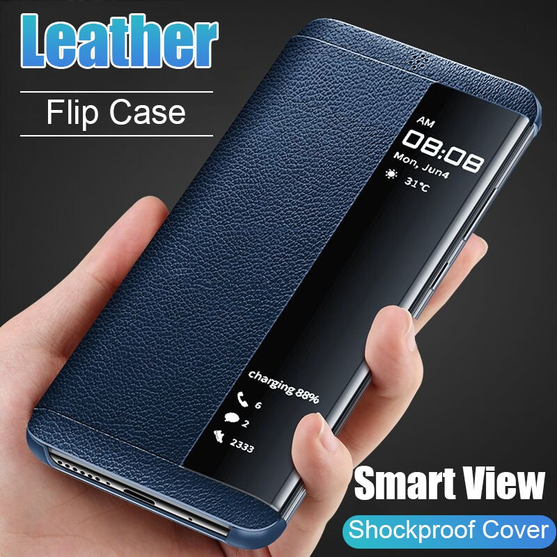 Leather Flip Case for Huawei