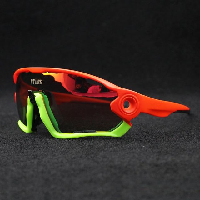 5 Lens Polarized Sports Cycling Sunglasses Mountain Biking Goggles