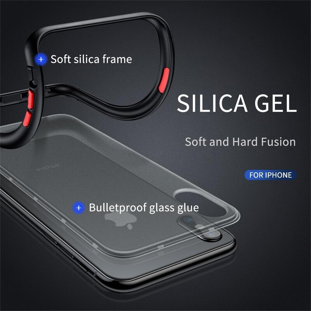 Shockproof Transparent Hybrid Silicone Phone Case For iPhone