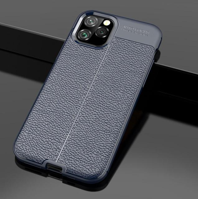 Leather Style Durable TPU Phone Case For iPhone