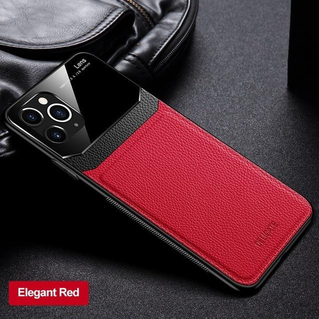 Luxury Leather Retro Shockproof Case for iPhone