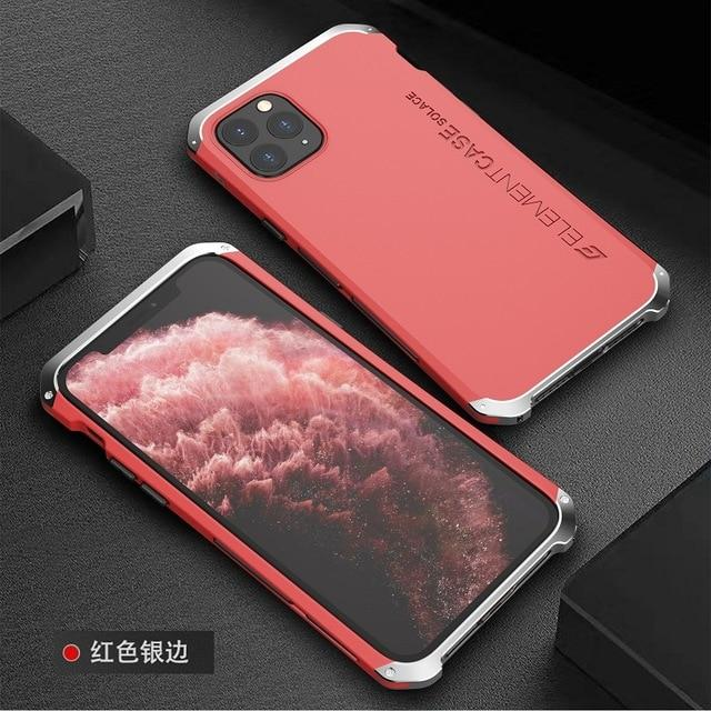 Hybrid PC Back Metal Aluminum Bumber Case For iphone 11