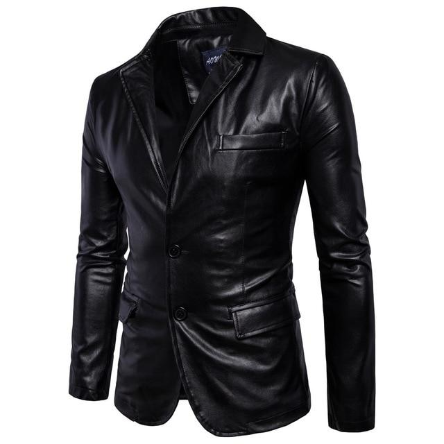 Fashion Motorcycle Business Men's Leather Jackets
