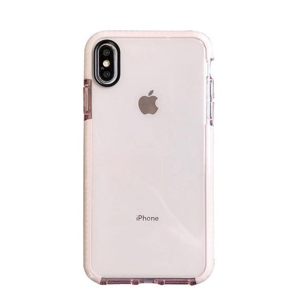 Clear Transparent Soft Silicone Anti-knock Shockproof Case for iPhone