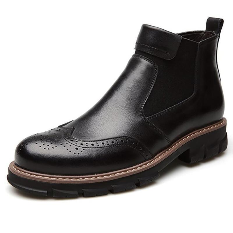 Fashion British Style Men Chelsea Ankle Boots