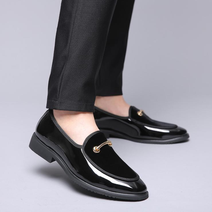 Fashion Spring Autumn Solid Casual Men Leather Shoes