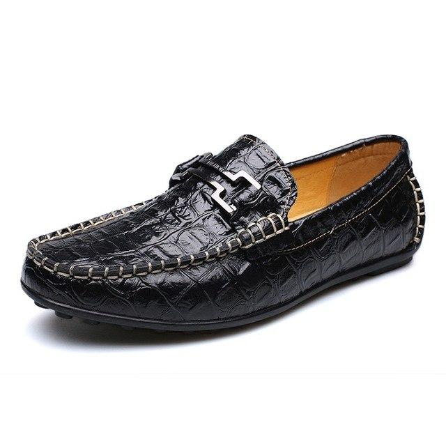Fashion Leather Moccasins Men Loafers Driving Shoes