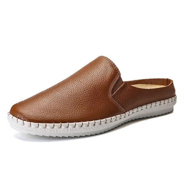 British Style Slip on Flat Loafers Lazy Men's Casual Sandals
