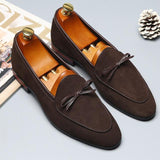 Italian Style Scrub Leather Slip-On Men's Casual Shoes