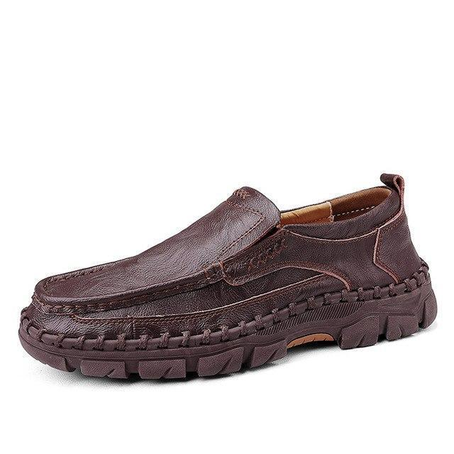Fashion Work Leather Comfortable Slip-On Leisure Men's Casual Shoes