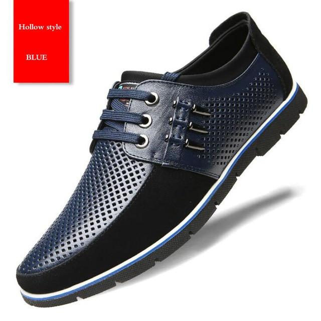 Plus Size Leather Men Casual Shoes