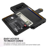 Credit Card Case PU Leather Flip Wallet Case For Samsung Galaxy