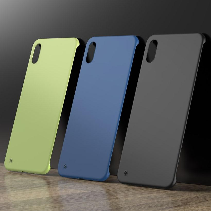 Ultra Slim Matte Frameless Phone Case For iPhone