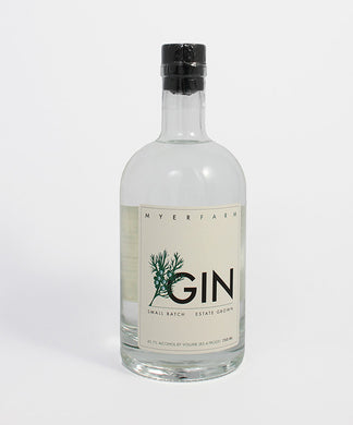 Myer Farm Distillers, Small Batch Gin, Cayuga Lake, 750ml