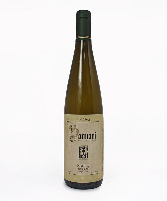 Damiani Wine Cellars, Semi-Dry Riesling, Seneca Lake, 750ml
