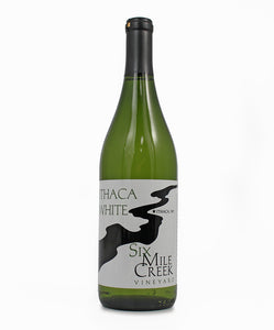 Six Mile Creek Winery, Ithaca White, Cayuga Lake, 750ml
