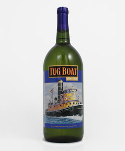 Lucas Vineyards, Tug Boat White, Cayuga Lake, 1.5L